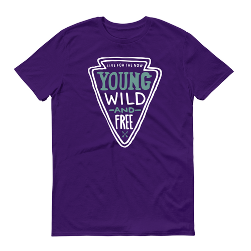 Young, Wild and Free Purple T-Shirt