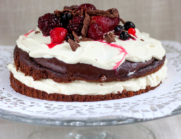 Kitçen Possible: LOW CARB Chocolate-Fruit-Cream-Pie
