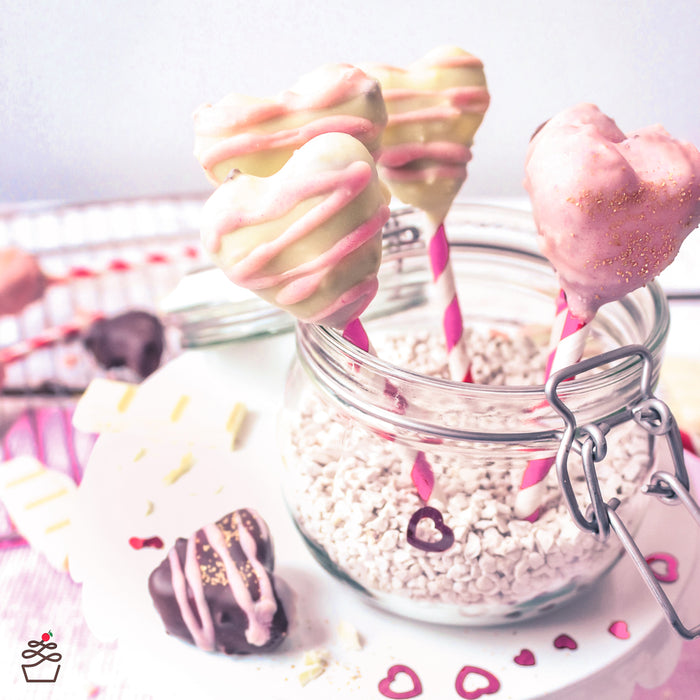 Rezept für Cake Pop Herzen | Sweet Kitçen | Wenig Carbs & Low Fat | Valentinstag | DIY |  #eatingwithoutcheating