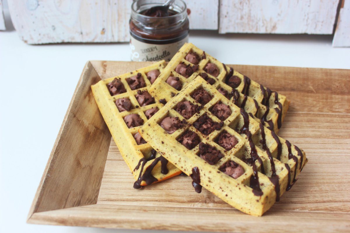 Fit Chocolate Chip Waffel, proteinreich, low carb
