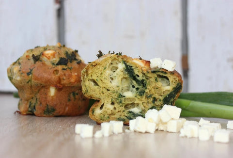 Balanced Feta Spinat Muffin