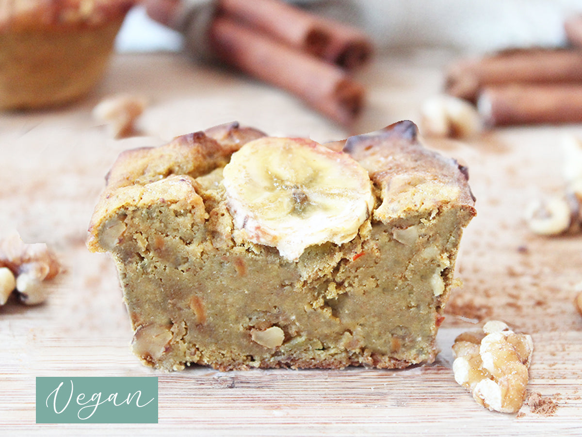 Vegan Bananenbrot Muffin, low carb, proteinreich
