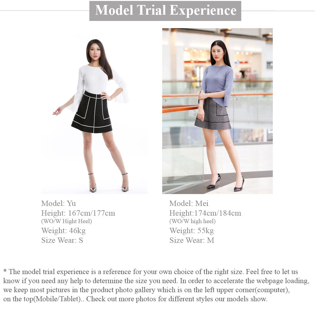 Knitted A Line Skirt Model Trial Experience