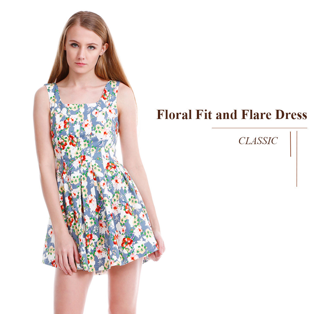 Floral Fit and Flare Mini Skirt main poster