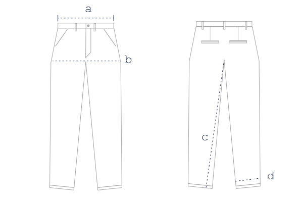 Guide des tailles chino – Loom