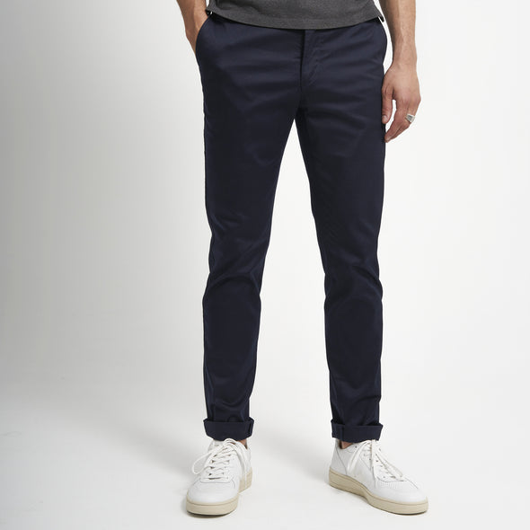 loom chino éco responsable bleu face