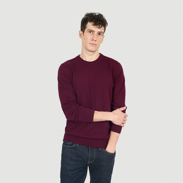 pull coton bio loom bordeaux face