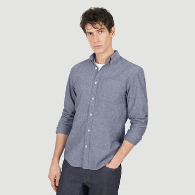 chemise chambray coton bio loom vue buste