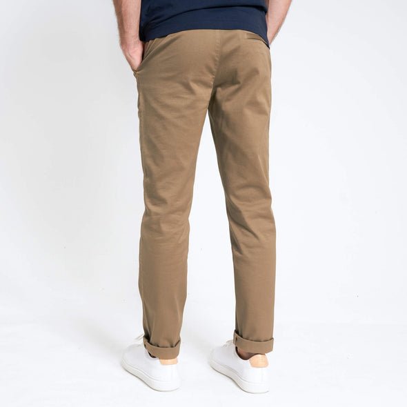 loom chino éco responsable beige dos