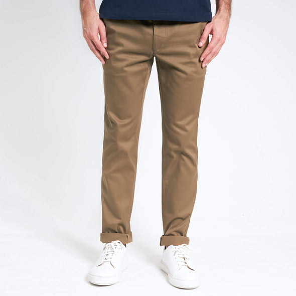 loom chino éco responsable beige face