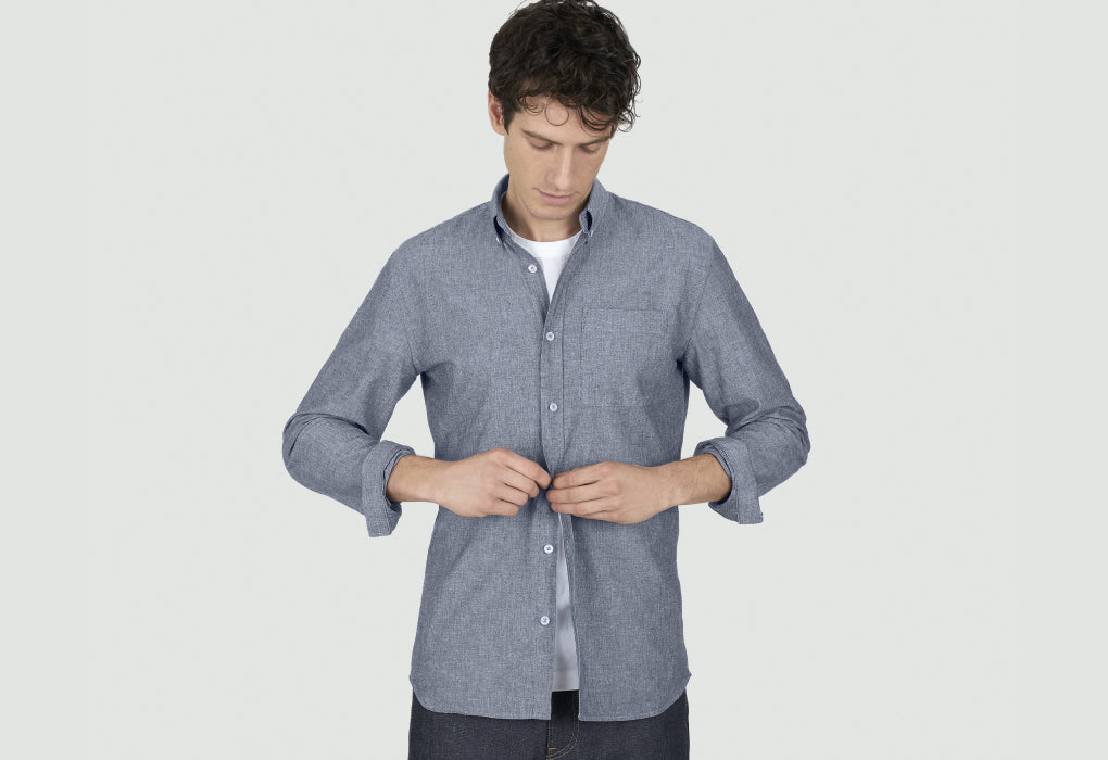 loom chemise chambray détail boutons