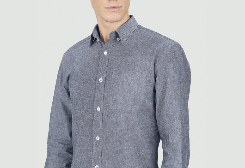 loom chemise chambray détail tissu