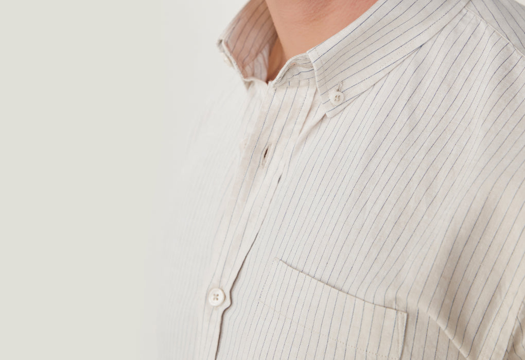 chemise coton lin loom boutons solides