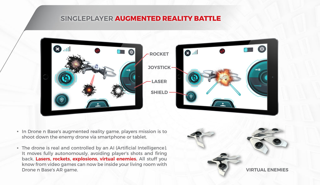 Augmented reality drone battle