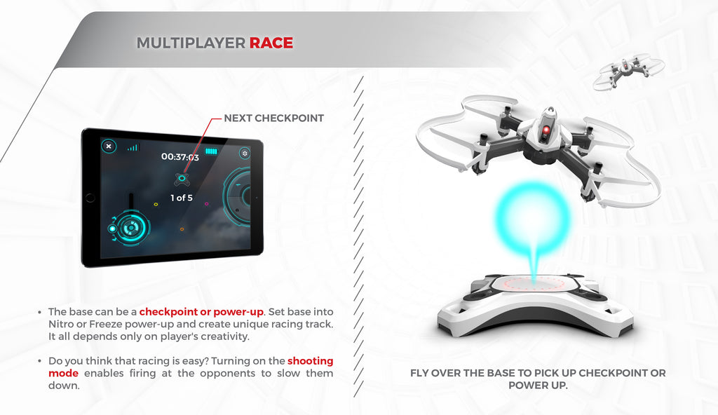 Drone multiplayer race