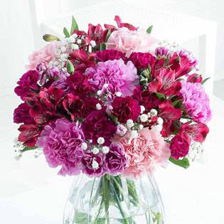 Carnation & alstroemeria bouquet