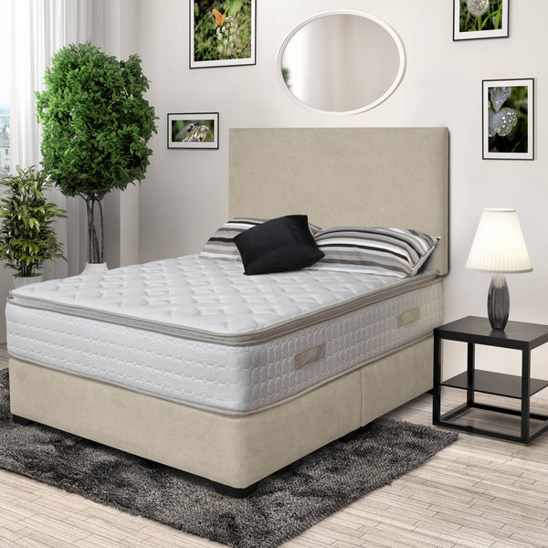 DFI Premium Divan Bed and Headboard Set  with Lifestyle Pillowtop Mattress (4792806998087)