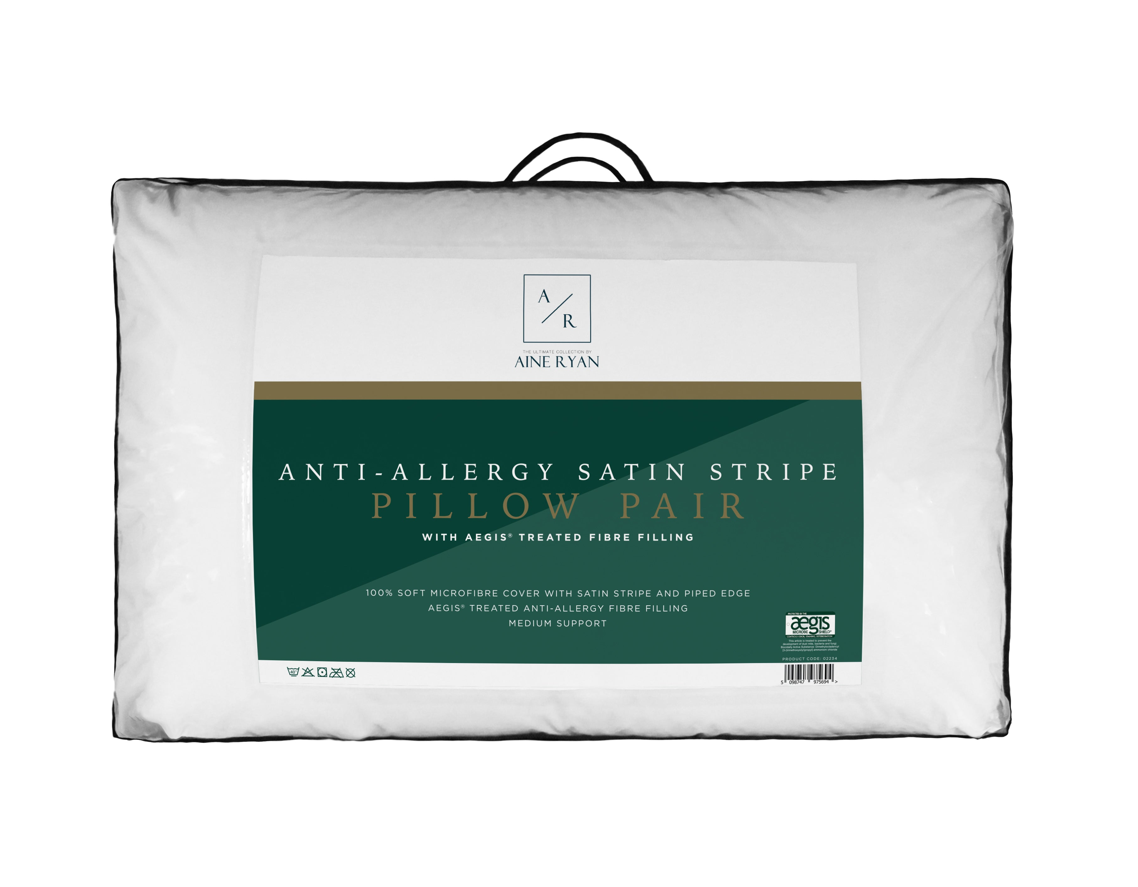 Aine Ryan Hotel Quality Luxury  Pillows - Twin Pack