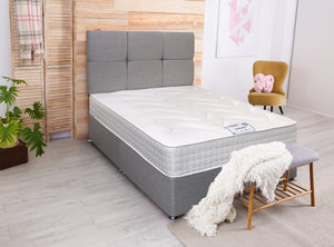 DFI Oliver Tweed Edition Divan Bed Set with Mattress Option