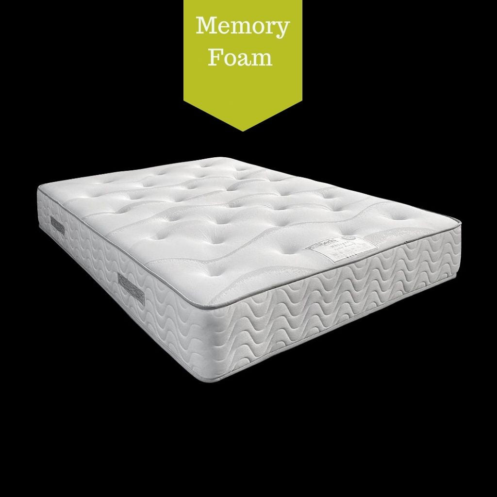 DFI Whisper Memory Foam Pocket Sprung Double Size Mattress (4975345369159)