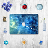 Macbook Decal Skin | Paint Collection - Blue Fish - Case Kool