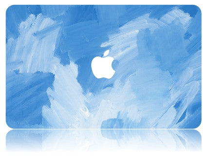 Macbook Case | Oil Painting Collection - Sky Blue Paint - Case Kool