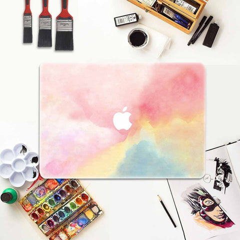 Macbook Decal Skin | Water Painting Collection - Rainbow - Case Kool