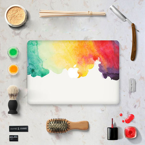 Macbook Decal Skin | Water Painting Collection - Dip Dye Rainbow - Case Kool