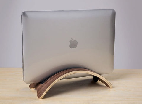 Wooden Stand Macbook Desk Holder Stand Display