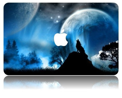 Macbook Case | Galaxy Space Collection - Wolf - Case Kool