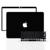 Macbook Case with Keyboard Cover and Screen Protector Package | Color Collection - Black - Case Kool