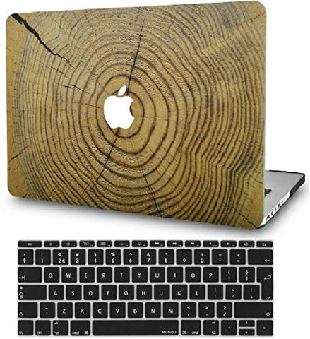Macbook Case with Keyboard Cover Package | Cracked Wood