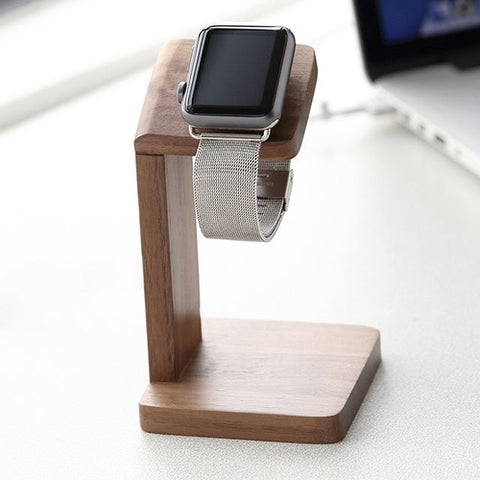 Wood Apple Watch Charging Stand Station - Case Kool