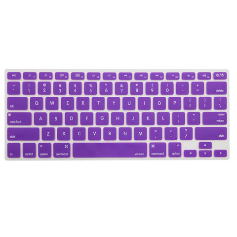 Macbook Ultra-Thin Keyboard Cover - Purple (US/CA keyboard) - Case Kool