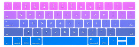 Macbook Ultra-Thin Keyboard Cover - Purple and Blue (US keyboard) - Case Kool