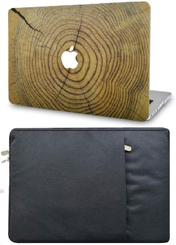 Macbook Case with Sleeve Package | Wood Collection - Cracked Wood - Case Kool