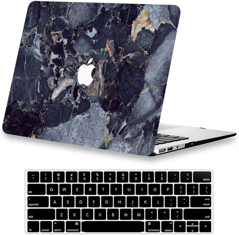 Macbook Case with Keyboard Cover Package | Denim marble