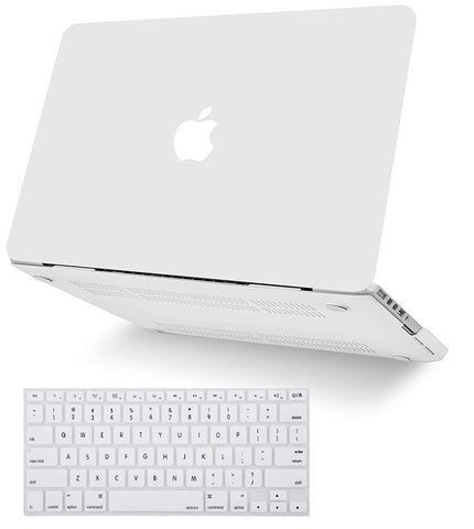 Macbook Case with Keyboard Cover Package | Color Collection - Sand White