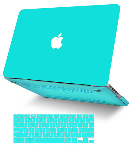 Macbook Case with Keyboard Cover Package | Color Collection - Matte Tiffany Blue - Case Kool