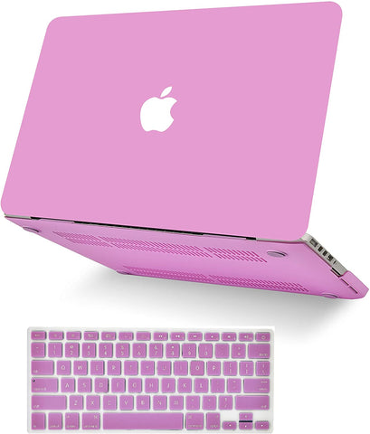Macbook Case with Keyboard Cover Package | Lavender