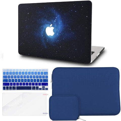 Macbook Case with Keyboard Cover + Slim Sleeve + Screen Protector + Pouch |Blue