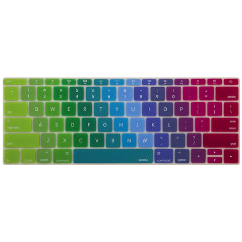 Macbook Ultra-Thin Keyboard Cover - Rainbow Color (US keyboard) - Case Kool