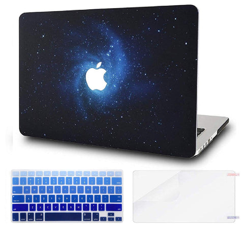 Macbook Case with US/CA Keyboard Cover' and Screen Protector Package | Galaxy Space Collection - Space - Case Kool