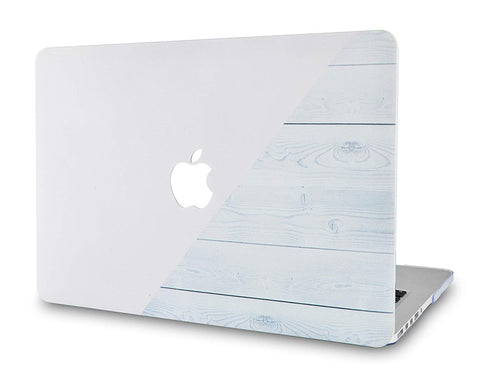 Macbook Case | Color Collection - Pale Pink White Wood - Case Kool