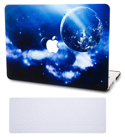 Macbook Case with US Keyboard Cover Package | Galaxy Space Collection - Earth - Case Kool