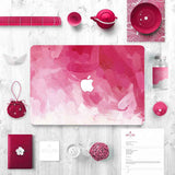 Macbook Decal Skin | Water Painting Collection - Pink Paint - Case Kool