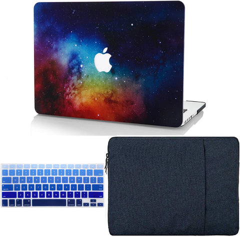 Macbook Case with Keyboard Cover and Sleeve Package | Galaxy Space Collection - Night Dream - Case Kool