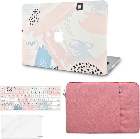 Macbook Case with Keyboard Cover, Screen Protector and Sleeve Package | Color Collection -  Watercolor Paint 2