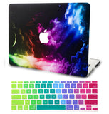 Macbook Case with US Keyboard Cover Package | Galaxy Space Collection - Color Space - Case Kool