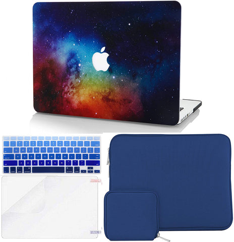 Macbook Case with Keyboard Cover + Slim Sleeve + Screen Protector + Pouch |Night Dream